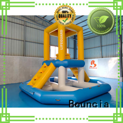 Bouncia awesome inflatable slide manufacturer for pool