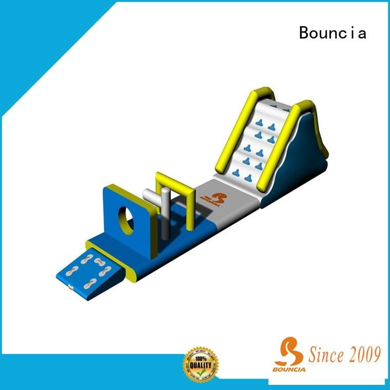 Custom inflatable water slide park obstacle company for lake