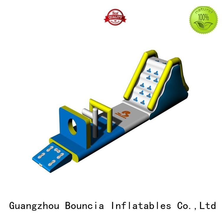 double slipping small inflatable water park Bouncia Brand