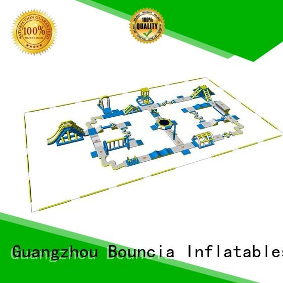 trampoline inflatable float floating Bouncia company