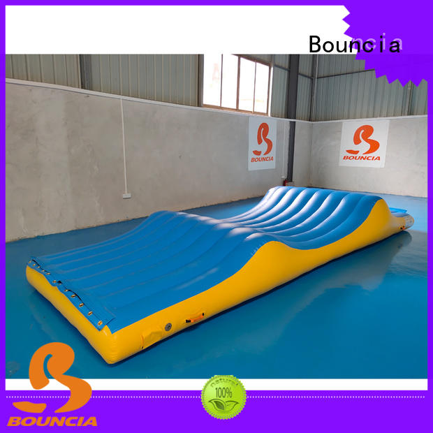 platform tarpaulin inflatable water games Bouncia Brand