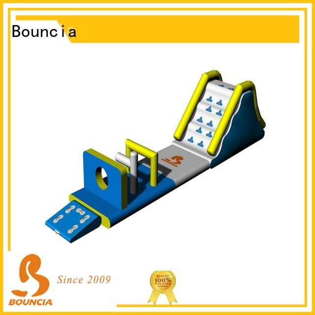 Bouncia course outdoor inflatable water slide for business for lake