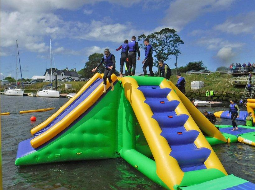 Bouncia -Find Manufacture About Inflatable Floating Slide Tower With 09mm Pvc Tarpaulin-2