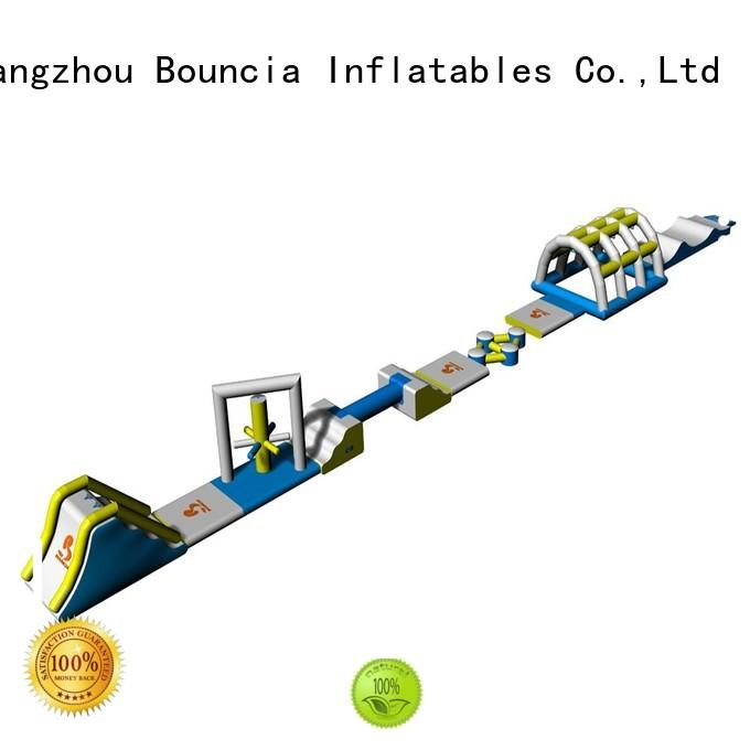 Custom kids inflatable floating water park 184ml11mw Bouncia