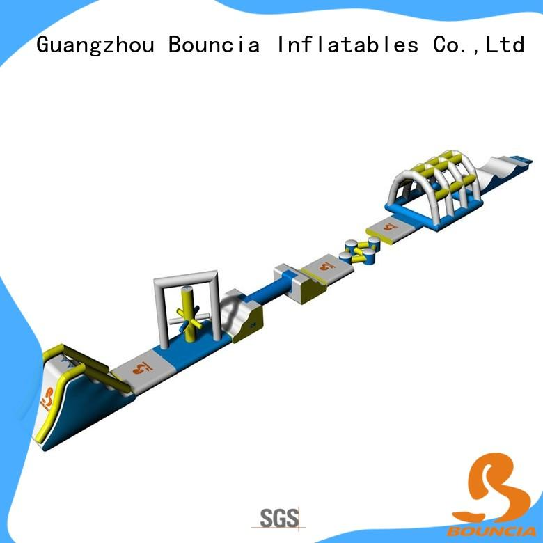 Bouncia obstacle inflatable water park for adults series for lake