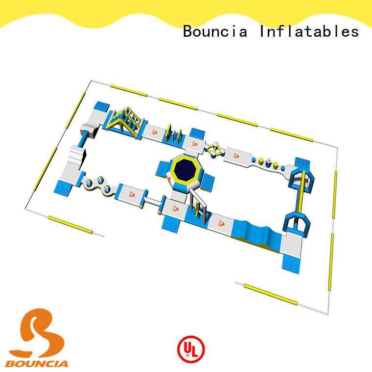 stable commercial inflatable water park by wholesale for lake