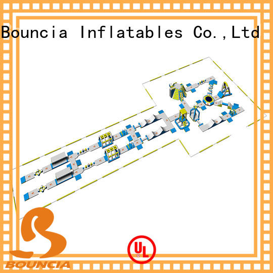 game outdoor inflatable water park customized for lake Bouncia