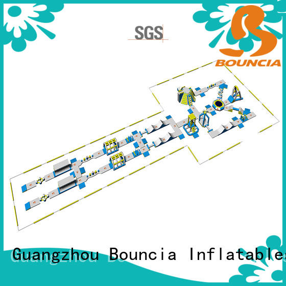 Bouncia certificated inflatable lake water park from China for kids