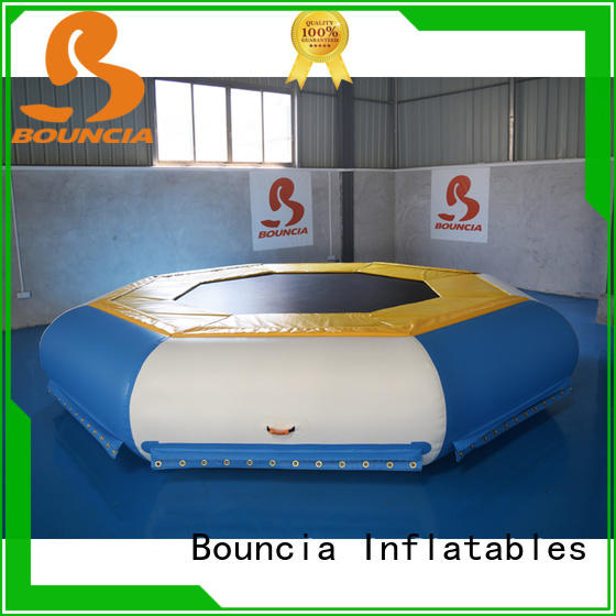 jumping platform inflatable water obstacle course from China for kids Bouncia