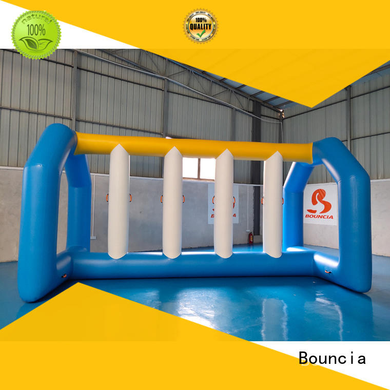 double inflatable water games tarpaulin caps Bouncia company