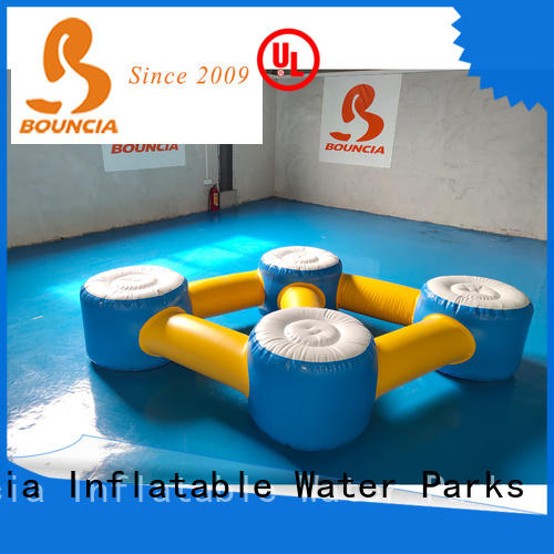 Bouncia floating inflatable water games manufacturers for pool