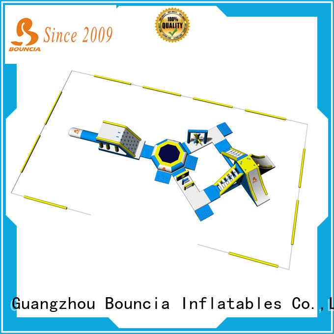 Bouncia certification inflatable floating water park personalized for kids