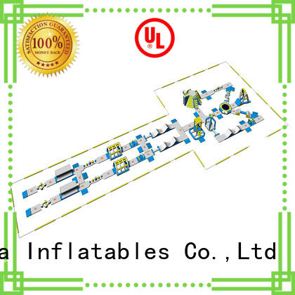 inflatable water park tuv for lake Bouncia