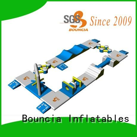 floating inflatable water sports obstacle series for lake