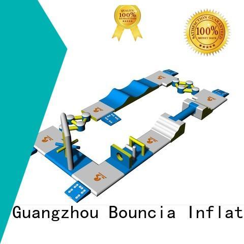 Wholesale bridge small inflatable water park Bouncia Brand