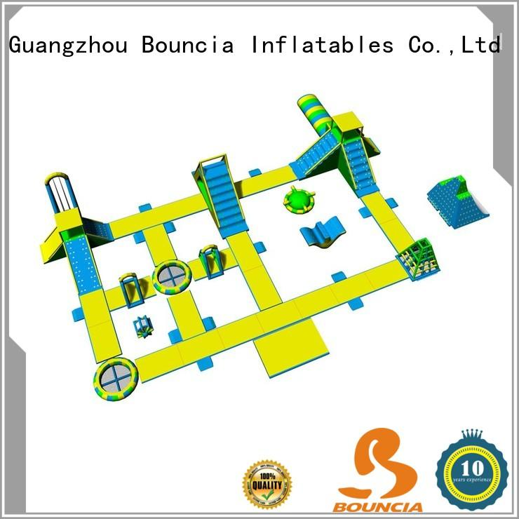 Bouncia certificated inflatable water park for adults for business for adults