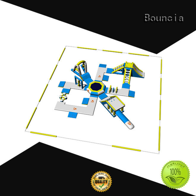 Bouncia floating inflatable aqua park water for lake