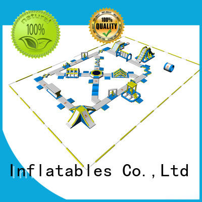 floating people stock inflatable water park in stock Bouncia