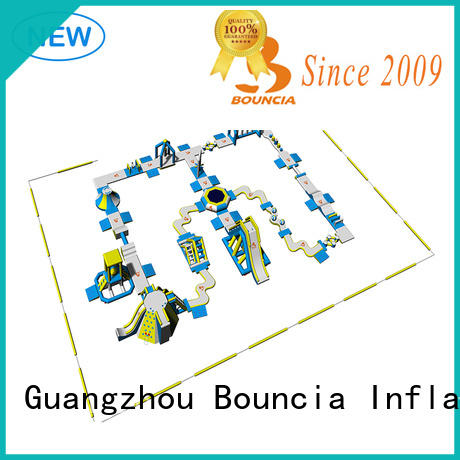 Bouncia floating big inflatable water park in stock factory price for kids