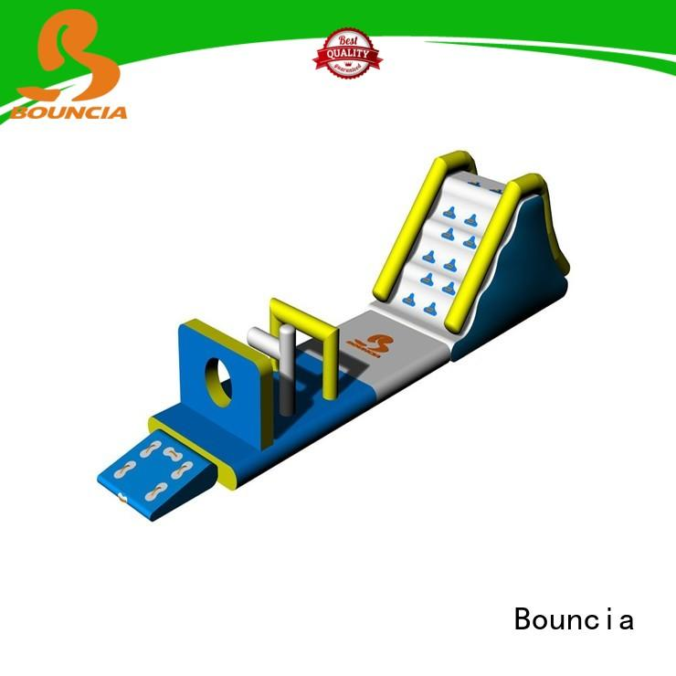 Bouncia toys inflatable water park equipment customized for lake