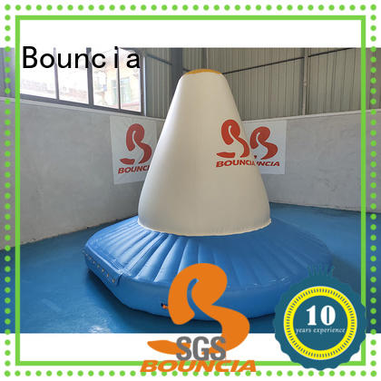 Bouncia durable inflatable floating slide for lake company for pool
