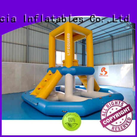 Bouncia Brand floating tuv inflatable water games mini factory