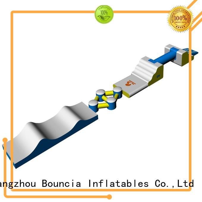 small inflatable water park course bouncia Bouncia Brand company