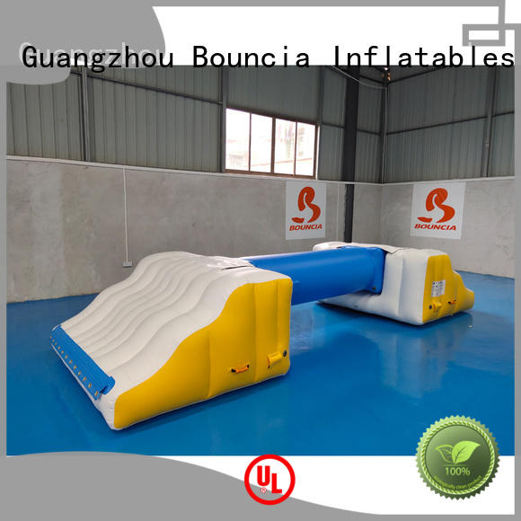 pvc inflatable water obstacle course jumping platform for outdoors Bouncia