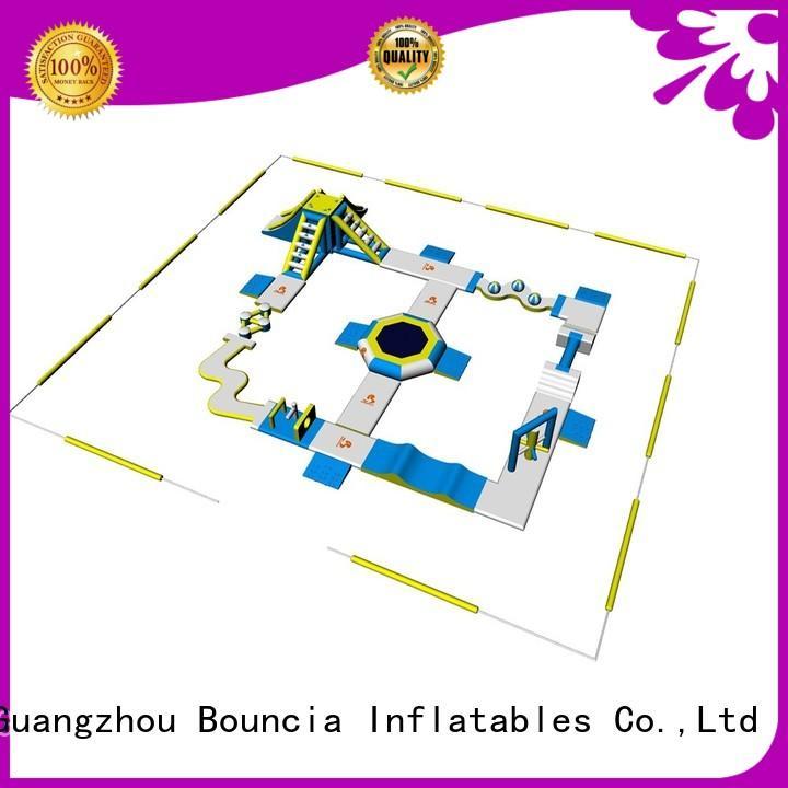 inflatable float pvc bridge made Bouncia Brand company