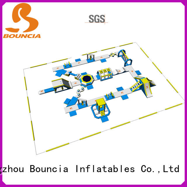 Bouncia 100 people lake inflatables personalized for lake