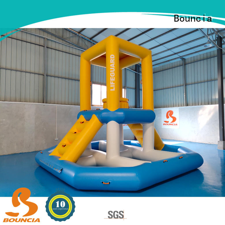 Bouncia jumping platform outdoor water inflatables manufacturer for adults