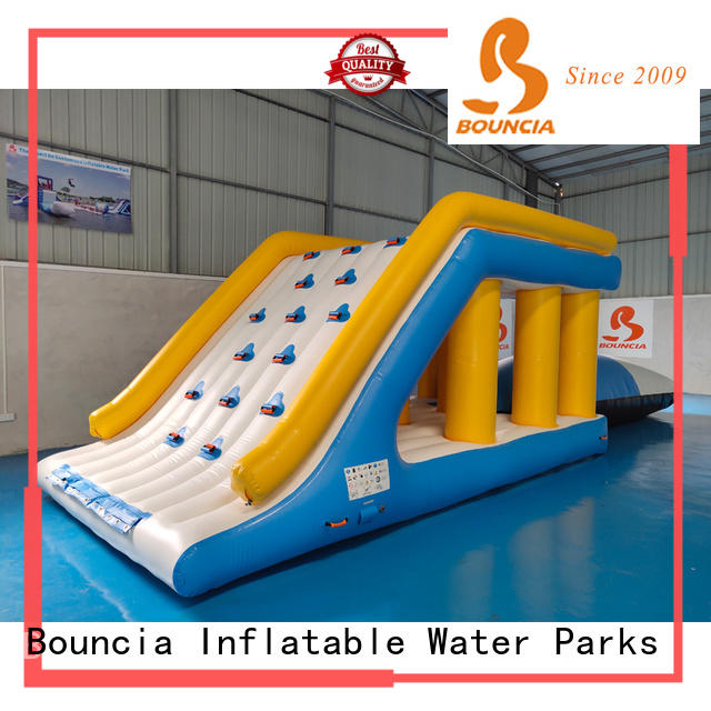 Bouncia floating inflatable floating water park manufacturer for outdoors