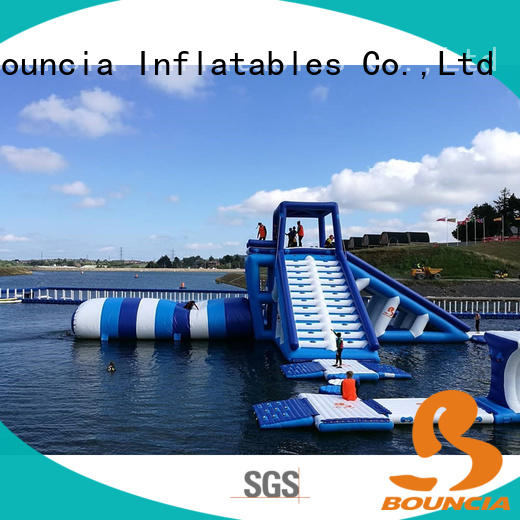 Bouncia beam blow up water park customized for outdoors