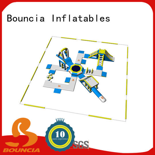 Bouncia stable aqua fun park personalized for lake