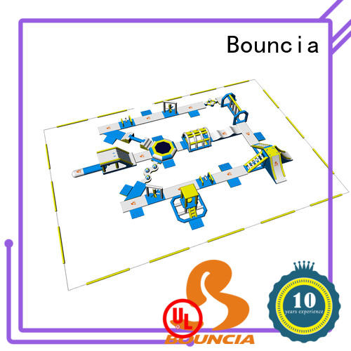 Bouncia 100 people floating water park for sale factory price for outdoors
