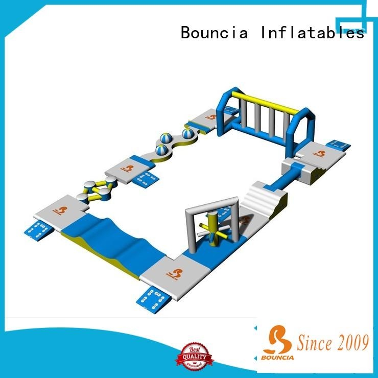 floating best inflatable water slide obstacle manufacturer for pools