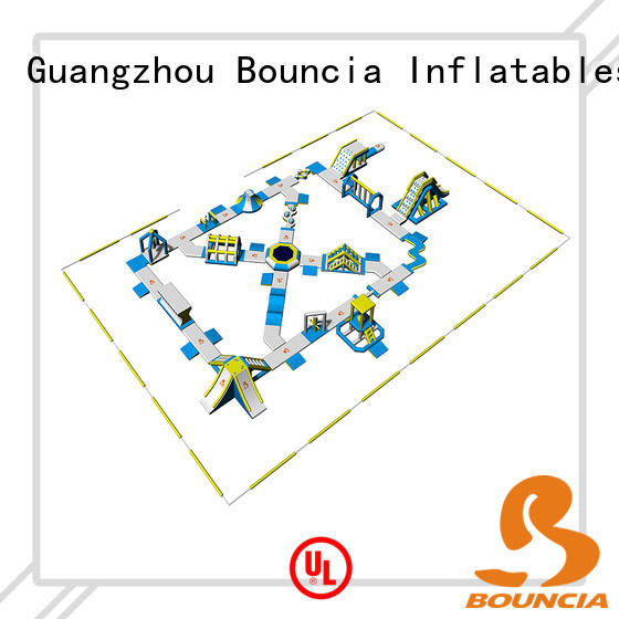 Bouncia durable blow up water park supplier for outdoors