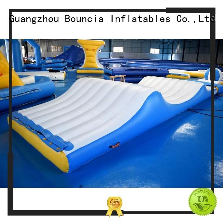 Bouncia Brand floating tower inflatable water games slide factory