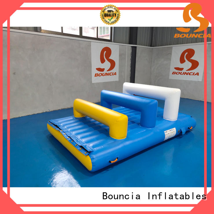 Bouncia double water inflatables for lakes from China for pool