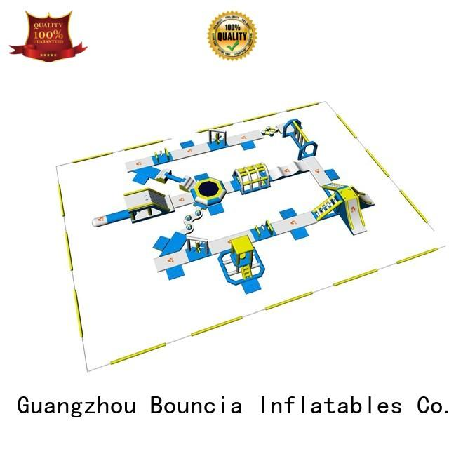 exciting certification 09mm toys Bouncia Brand blow up water park supplier