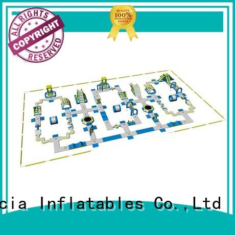 inflatable water park for adults certification trampoline Bouncia Brand company