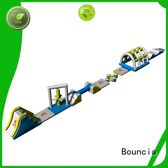small inflatable water park party Bouncia Brand inflatable floating water park