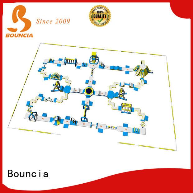 Bouncia floating big inflatable water slide manufacturer for lake
