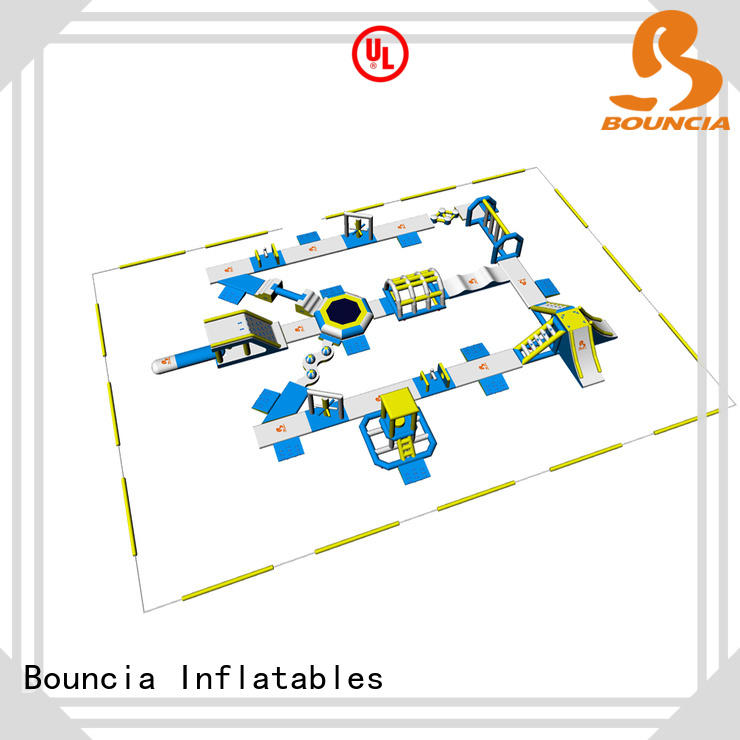 Bouncia equipment inflatable aqua park for outdoors