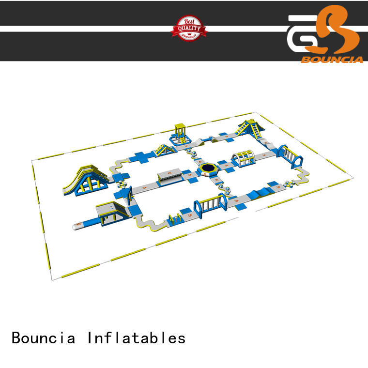 Bouncia floating big inflatable water park in stock supplier for kids