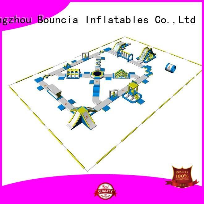 design blow up water park grade Bouncia company