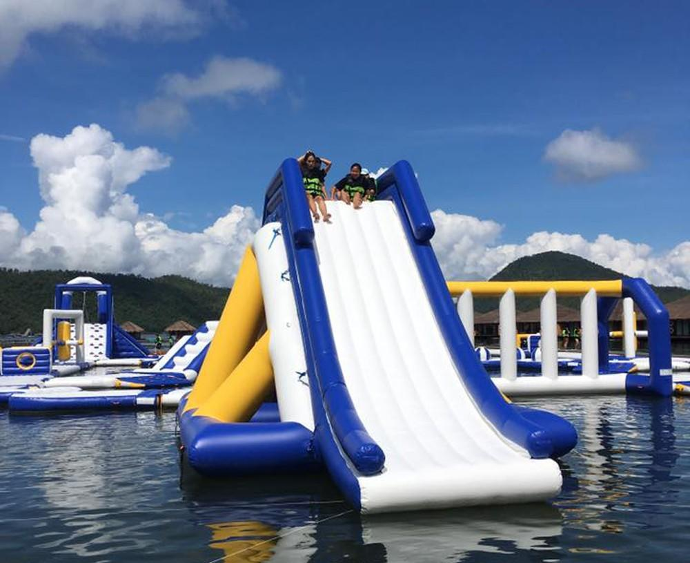 Bouncia mini games inflatable lake obstacle course factory for kids-3