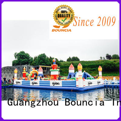 Bouncia safey commercial inflatable water park manufacturer for toddler