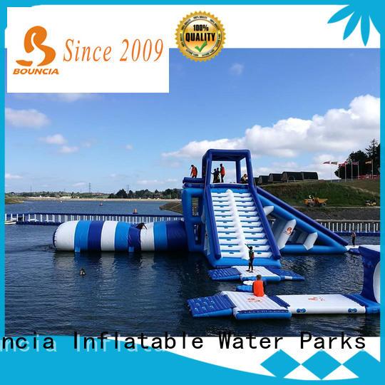 Bouncia jump aqua park equipment manufacturer for pool