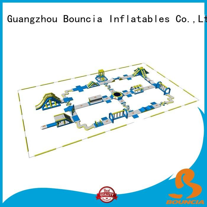 Hot blow up water park wave Bouncia Brand